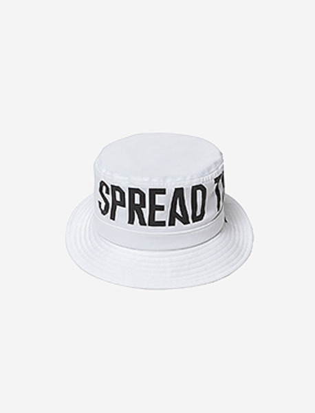 STM BUCKET HAT - WHITE brownbreath