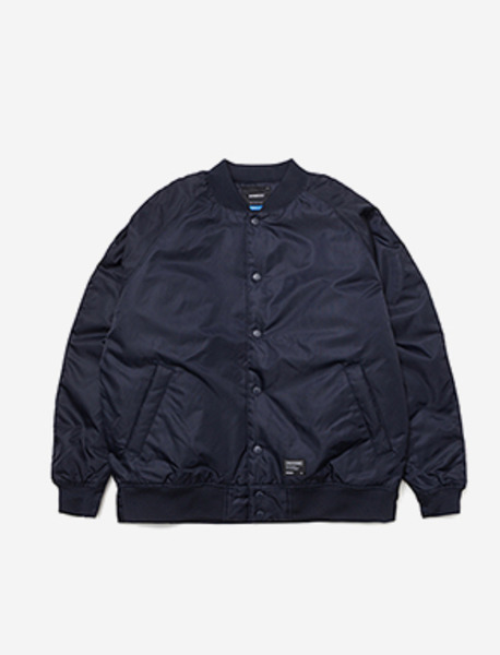 LILSIGN STADIUM JACKET - NAVY brownbreath