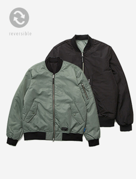 B REVERSIBLE MA-01 JACKET - GREY(BLACK) brownbreath
