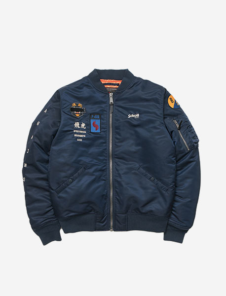 BBSXB AGAINST SOUVENIR JACKET - NAVY brownbreath