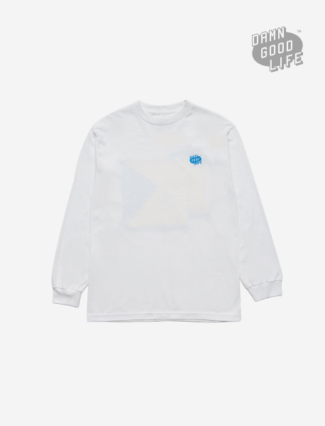 VANISH LONGSLEEVE - WHITE brownbreath