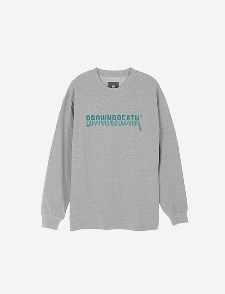 DIVIDE LONGSLEEVE - GREY brownbreath