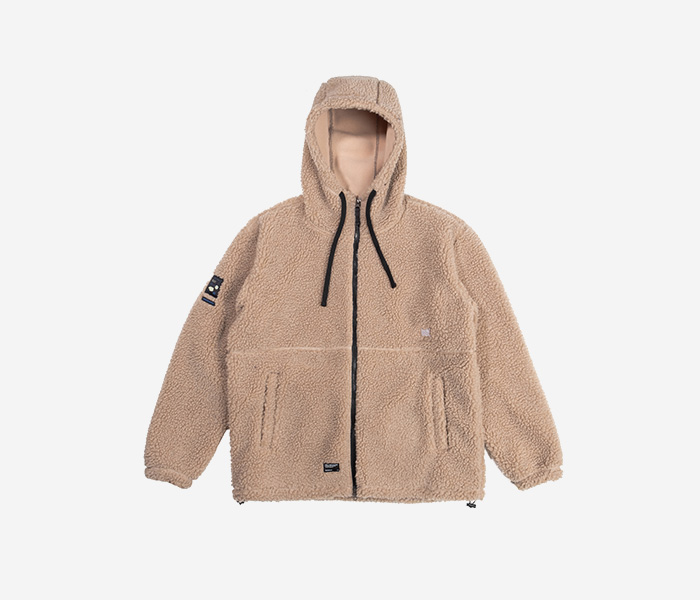 BB BOA FLEECE JACKET - BEIGE brownbreath