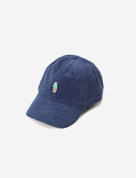 VENDETTA CORDUROY CAP - NAVY brownbreath