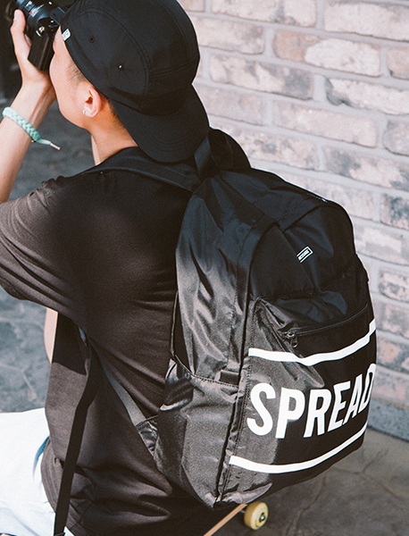 BIG SIGN M.BACKPACK - BLACK brownbreath