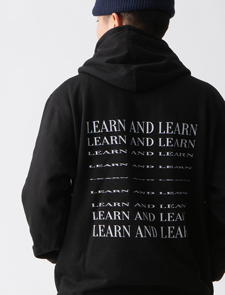 LEARN HOODIE - BLACK brownbreath