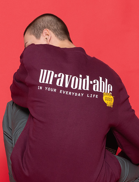 UNAVOIDABLE CREWNECK - BURGUNDY brownbreath