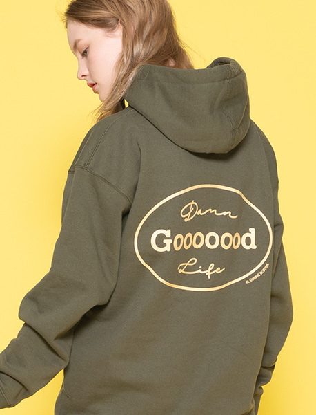 GOOOOOOD HOODIE - ARMY brownbreath