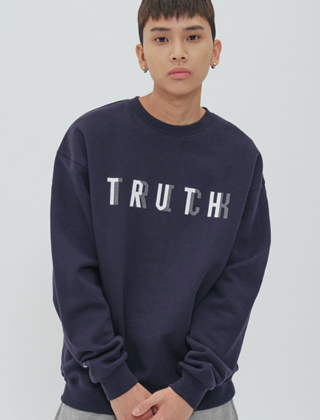 TRUTHTRICK CREWNECK - NAVY brownbreath