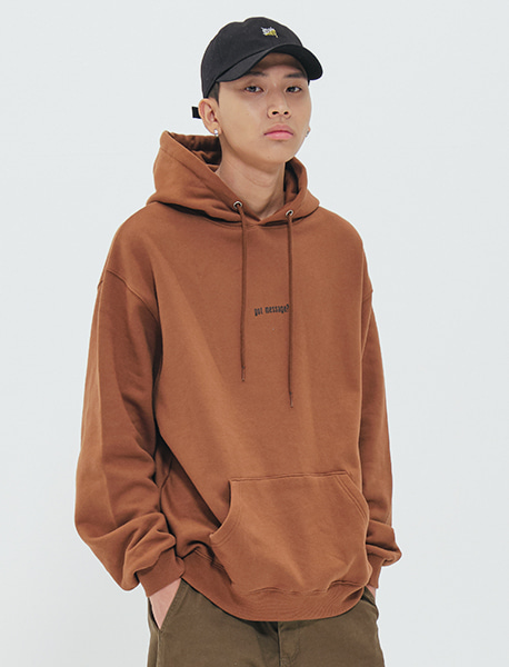 GOT MESSAGE HOODIE - BROWN brownbreath