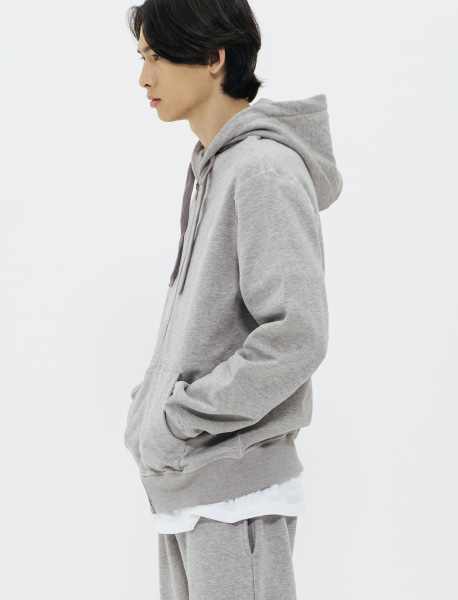TAG HOOD ZIPUP - GREY brownbreath