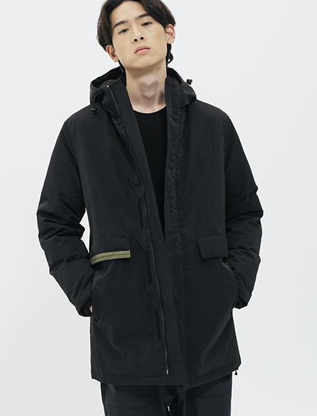 MESS PARKA - BLACK brownbreath