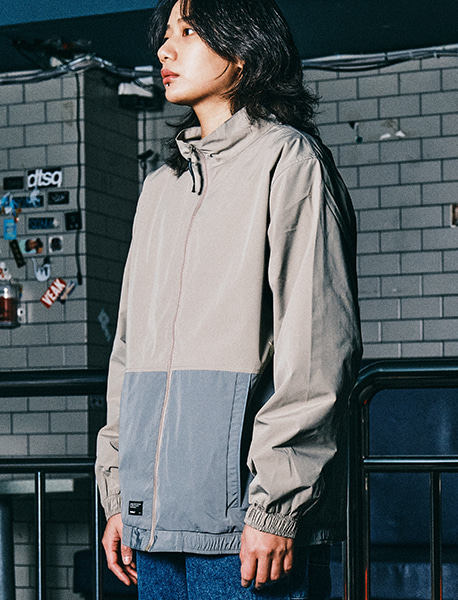 TAG TRACK JACKET - BEIGE brownbreath